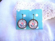 Antiqued bronze kimono style earrings £6.00