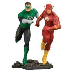 Green Lantern and Flash Statue