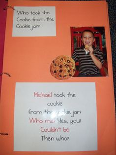 Back To School:  Who Took The Cookies...  Super cute to do!  Take the picture at Meet the Teacher night and then read the book on the first day of school to get to know the kids in class!!
