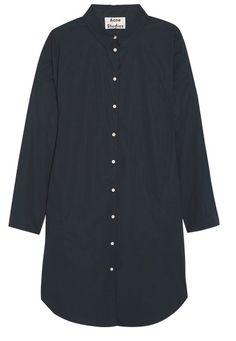 Lash Oversized Cotton-Poplin Shirt Dress