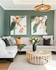 Living Room Green, Home Living Room, Living Room Designs, Living Room Decor, Living Room Color Schemes, Living Room Inspiration, Room Colors, Home Interior Design, Interior Office