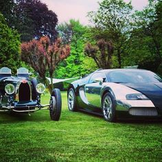 Old school Vs New school! #Bugatti