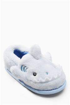 Boys Next Blue Shark Character Slippers (Younger) - Blue Cute Slippers, Slippers For Girls, Blue Shark, Ballet Fashion, Slipper Boots, Latest Fashion For Women, Booty, Kids, Stuff To Buy