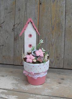 Viktória kertje - asztaldísz (tartós virágdísz), Dekoráció, Otthon, lakberendezés, Meska