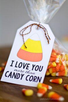 Eu te amo mais do que o Tag do milho de doces de presente by Divonsir Borges