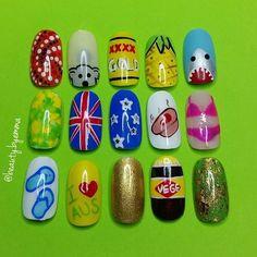 Cute Australia Day nail art ideas