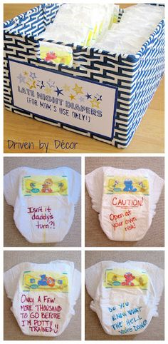 Baby Shower Activity: Late night diapers