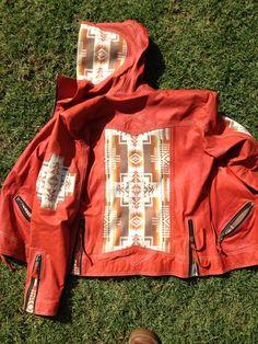 Pendleton Chief Joseph Orange Leather by KiyoteofBigSur, $600.00