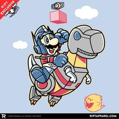 Super Prime Bros. T-Shirt $10 Super Mario Bros tee at RIPT today only!