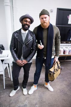 "Ash Black and Gordon Petersen - ""The best-dressed men at Jacket Required - GQ.co.uk"""