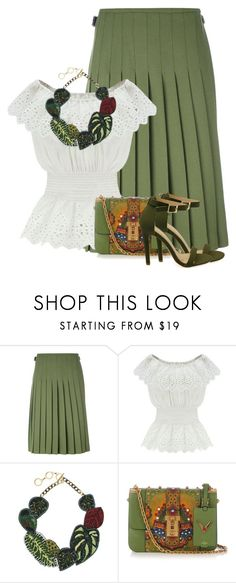 """Untitled #5670"" by barbarapoole ❤ liked on Polyvore featuring Le Kilt, WithChic, Forest of Chintz and Valentino"