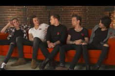 The guys from the live stream #1dhangout