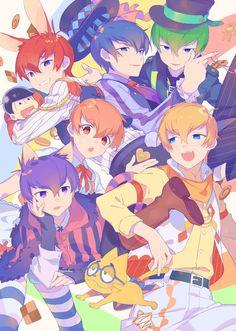 Osomatsu-san- Osomatsu, Karamatsu, Choromatsu, Ichimatsu, Jyushimatsu, and Todomatsu #Anime「♡」F6 Wonderland