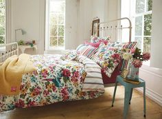 Vintage Floral Bedding from Joules | Sunbird Floral Bedding Collection at Bedeck Home