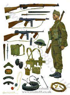 Las Cosicas del Panzer — bantarleton: British Commandos, Second World. British Army Uniform, British Uniforms, Ww2 Uniforms, British Soldier, Military Uniforms, British Commandos, Military Equipment, British Army Equipment, Military Weapons