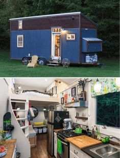 Little Lou tiny house on wheels design ideas Buy A Tiny House, Tiny House Living, Tiny House Design, Tiny House On Wheels, Timbercraft Tiny Homes, Steel Cladding, Tumbleweed Tiny Homes, House Worth, Small Room Organization