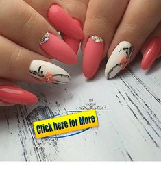 39 Pretty Nail Art Designs To Inspire You - Page 38 of 39 - TipSilo Pink Nail Art, Cute Acrylic Nails, Acrylic Nail Designs, Pink Nails, Nail Art Designs, Fabulous Nails, Gorgeous Nails, Fancy Nails, Cute Nails