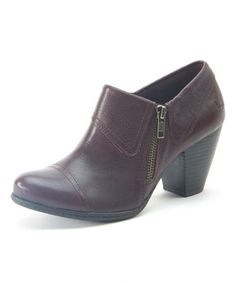 Look what I found on #zulily! Dark Brown Lucille Leather Ankle Boot by b.o.c #zulilyfinds