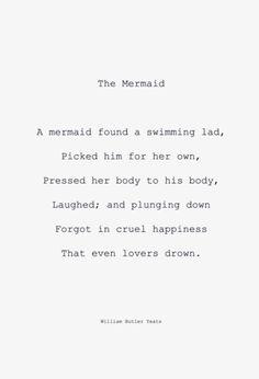 alecshao:    W. B. Yeats,The Mermaid