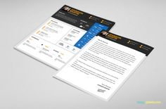 PSD Resume & Cover Letter Template for Designers   3 Color Versions