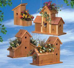Cedar Birdhouse Planters Woodcraft Pattern