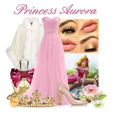 """Princess Aurora"" by disney-villains ❤ liked on Polyvore featuring Harrods, Juicy Couture, RED Valentino, ASOS, Dee Berkley, disney, princess, sleepingbeauty and aurora"