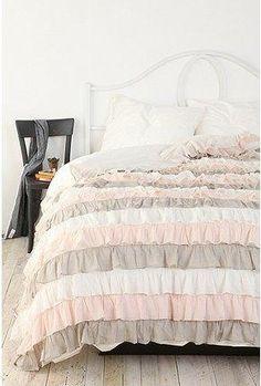 White Ruffle Bedding On Pinterest Bohemian Duvet Cover