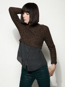 OBSESSED with this whole outfit. Cable Knit Cropped Sweater by Opening Ceremony at Gilt