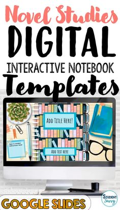 This resource provides EDITABLE Digital Interactive Notebook Templates that you can create for your students! Designed for Google Classroom and Google Slides. **Includes additional two-sided template and How-To Guide! Designed to be used as a digital notebook for ELA, Reading, and/or Novel Studies! EDITABLE Page Tabs, Reading Log, Character Profiles, Vocabulary, Themes, Plot, Chapter Scenes, Book Quotes, Style, Letter to a Character, Twist in the Plot, and Book Rating Templates! Teaching Activities, Teaching Writing, Teaching Science, Teaching Resources, Teaching Ideas, Fourth Grade, Third Grade, Sixth Grade, Reading Logs