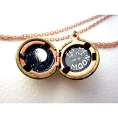 Fly Me To The Moon Locket Necklace - I love this!!