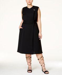 175ed4d080c RACHEL Rachel Roy Curvy Plus Size Sleeveless Utility Wrap Dress Plus  Fashion