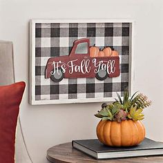 This plaque has all of the fall essentials from buffalo check to vintage trucks. Bring this It's Fall Y'all Truck and Buffalo Check Plaque home today. Buffalo Check, Buffalo Print, Fall Home Decor, Autumn Home, Fall Plaid, Dollar Tree Crafts, Happy Fall Y'all, Home Interior, Interior Decorating