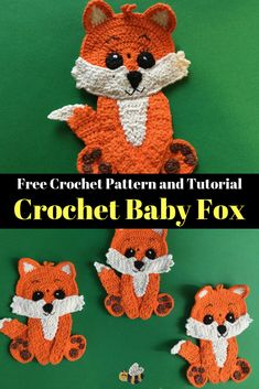 Get this free crochet pattern of a crochet baby fox at Kerri's Crochet. There's also many other crochet animals available. Get this free crochet pattern of a crochet baby fox at Kerri's Crochet. There's also many other crochet animals available. Crochet Amigurumi, Crochet Teddy, Crochet Bunny, Crochet Animals, Free Crochet, Crochet Applique Patterns Free, Crochet Motifs, Crochet Flower Patterns, Crochet Blanket Patterns