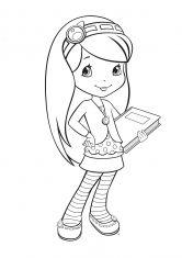 раскраска девочка черника с книжкой раскраска раскраски