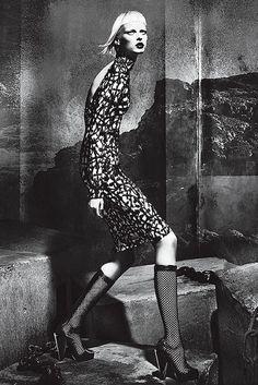 #Versace FW12 Gothic underground BW campaign stars Elza Luijendijk shot by @MertMarcus styled by Joe McKenna.