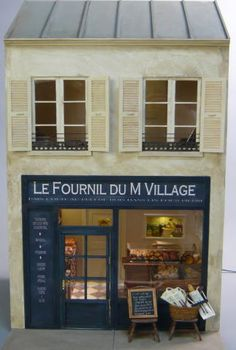 Miniature shop 'Le Fournil du M Village' facade