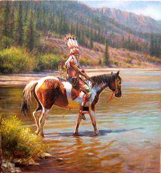 """Blackfoot Warrior"" (c) by Don Oelze"