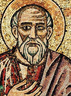 """Mosaïque du baptistère de St Jean Baptiste. Les """"(grands) prophètes"""" 24. Moïse"""