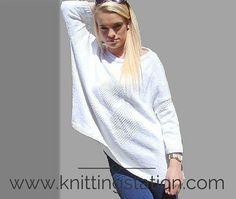 The Knitting Station provides Designer Knitting Patterns and Information Designer Knitting Patterns, Slouchy Sweater, Needles Sizes, Pattern Design, Plus Size, Simple, Long Sleeve, Sleeves, Sweaters