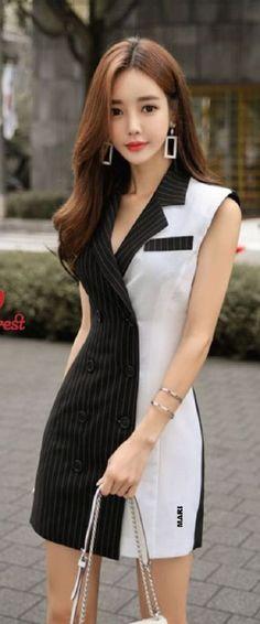 Office Fashion, Work Fashion, Fashion Models, Vintage Dress Patterns, Indian Designer Wear, Classy Dress, Chic Outfits, Casual Wear, Korean Fashion