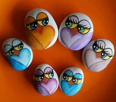Rock painting ideas easy - Easy Paint Rock For Try at Home (Stone Art & Rock Painting Ideas) – Rock painting ideas easy Rock Painting Patterns, Rock Painting Ideas Easy, Rock Painting Designs, Pebble Painting, Pebble Art, Stone Painting, Painting Art, Pebble Stone, Stone Crafts