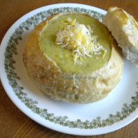 Broccoli Cheese Soup (like one of my favorite restaurants recipe) I'm hungry for soup and sandwich today