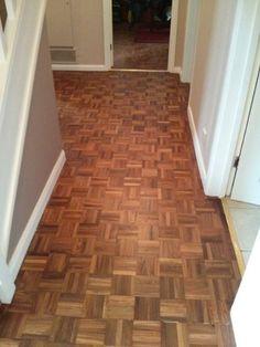 parquet flooring after