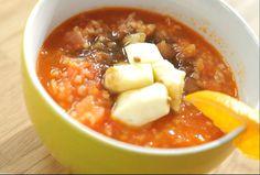 Chicken Soup with Trahana | Greek Food - Greek Cooking - Greek Recipes by Diane Kochilas