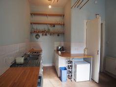 Kitchen Layout, New Kitchen, Kitchen Ideas, Glasgow, Side, Corner Desk, Storage, House, Flat
