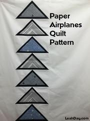 Learn how to make an easy paper pieced modern style quilt with the free Paper Airplanes quilt pattern and quilting tutorial created by Leah Day. Paper Pieced Quilt Patterns, Paper Piecing, Pattern Paper, Quilting Tutorials, Quilting Designs, Airplane Quilt, Paper Box Template, Paper Artwork, Free Paper