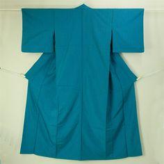 Muji, tsumugi hitoe kimono / 普段使いに 薄藍色 無地の紬単衣