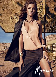 Sandrah Hellberg Smolders in Marciano's Holiday 2012 Campaign by Hunter  Gatti