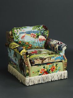 Eclectic chairs and kooky cushions: Tapestry Art