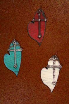 cross, heart